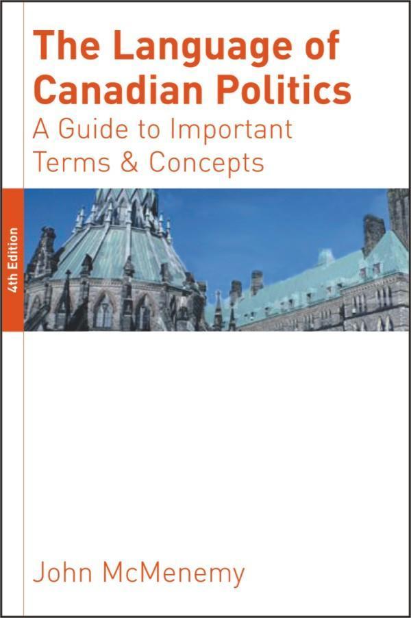 The Language of Canadian Politics – WLU Press