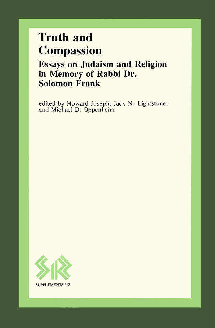 truth and compassion wlu press truth and compassion essays on judaism and religion in memory of rabbi dr solomon frank