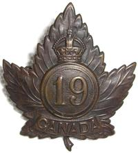 19th Canadian Infantry Battalion Cap Badge